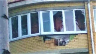 Ураган в Урае снёс балкон