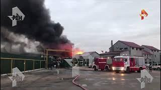 НОВОСТИ: Серия хлопков раздалась на месте пожара в ангаре в Новой Москве
