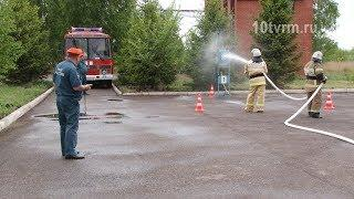 В Саранске прошли соревнования добровольных пожарных дружин