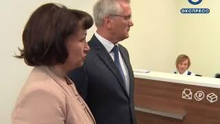 Губернатор оценил модернизацию почтового отделения на ул. Кулакова