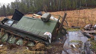 Экстремальное путешествие: в Советском районе из болота вытащили утонувший болотоход