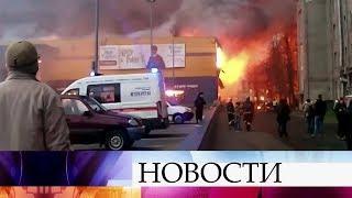 Открытое горение ликвидировано в гипермаркете в Санкт-Петербурге.