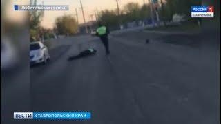 Мужчина сбил полицейского, скрываясь с места ДТП