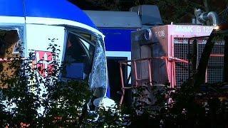 Столновение поездов в Баварии: есть погибшие