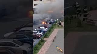 Две машины сгорели на улице Родосской в Ставрополе