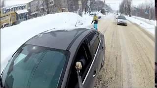 Экстремал на сноуборде в Воронеже