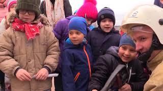 Православные школьники тушили пожар