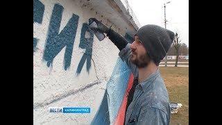 Уличный художник нарисовал триколор, чтобы призвать людей на выборы