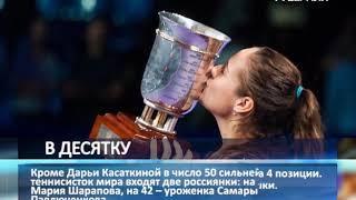 Тольяттинская теннисистка Дарья Касаткина вошла в топ-10 мирового рейтинга WTA