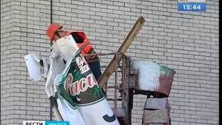 Незаконную рекламу с жилых домов убирали в Свердловском округе Иркутска