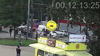 ДТП Тутаевское/Урицкого. 29.08.18. Наезд на пешехода.
