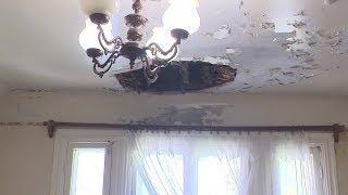 Среди ночи в квартире уфимки обвалился потолок