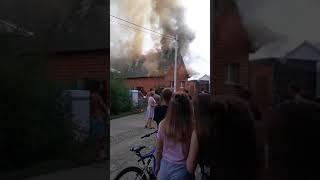 Пожар в Оренбурге 29 июля