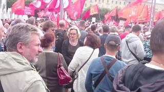 Митинг против в ПИТЕРЕ Пенсионной реформы в Санкт Петербурге ¦ Новости сегодня