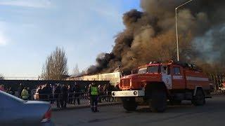 горит Самара Пожар около ТРЦ Звезда на Ново Садовой в Самаре
