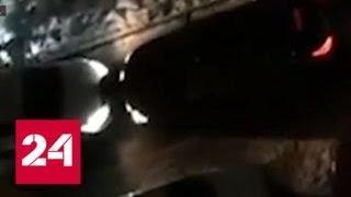В Москве женщину чуть не задавили из-за парковки - Россия 24