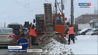Битва со снегом: сугробы в Новосибирске растут и вверх и вширь