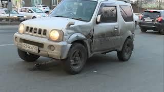 Торопливый водитель такси спровоцировал ДТП на Суханова