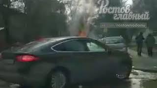 Сгорела машина на Грисенко 21 10.3.2018 Ростов-на-Дону Главный