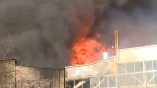 Пожар на территории «Центролита»
