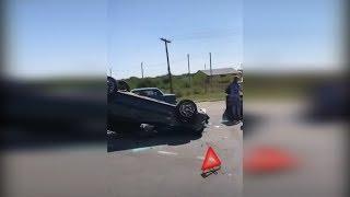 В Суровикинском районе перевернулся автомобиль