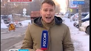 В Иркутске до сих пор устраняют последствия коммунальной аварии на улице Карла Либкнехта