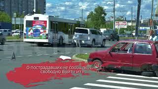 Лихач на «Лексусе» на скорости снёс «Оку»: видео