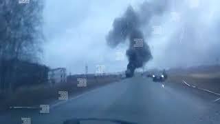 На трассе под Челябинском сгорела фура