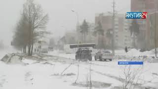 Мощный циклон принес в Южную Якутию сильный ветер и метель