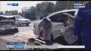 В Кузбассе  ДТП с участием полицейской машины попало на видео