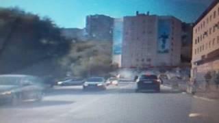 Серьезное ДТП на ул.Душенова в Североморске попало на видео