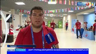 Большая интернациональная команда волонтёров на стадионе «Мордовия Арена» готовится к матчу Панама Т