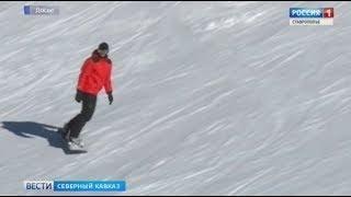 Лыжники выходят на зимние трассы Северного Кавказа