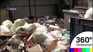 В одном из дворов Дубны образовалась мусорная свалка
