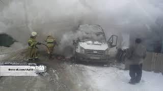 В Омской области за сутки сгорели два автобуса
