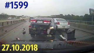 Новая подборка ДТП и аварий. «Дорожные войны!» за 27.10.2018. Видео № 1599.