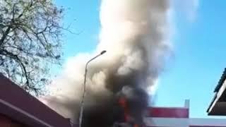 На рынке в Изобильном загорелся магазин детских товаров