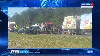 """Крупная авария произошла на трассе """"Кола"""" под Сегежей"""