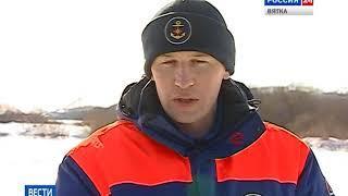 Лед на реках становится опасным для рыбаков(ГТРК Вятка)