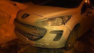 Разбил 3 машины и скрылся на семерке, Калинина Попова  Место происшествия 03 04 2018