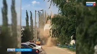 Торнадо сняли на видео жители Башкирии