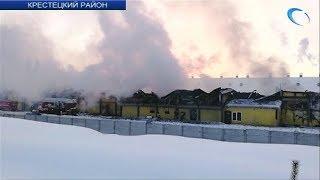 В Крестецком районе случился пожар на местной птицефабрике