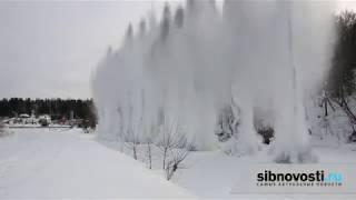 На реках Сибири взрывают лед