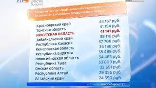 Иркутская область — на третьем месте по уровню зарплат в Сибири