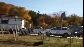 Авария вызвала большую пробку на проспекте Кулакова в Ставрополе