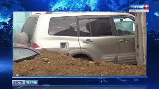 В Березниках опрокинулся грузовик с землей