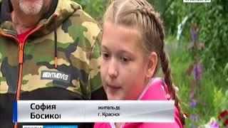 Жители Железнодорожного района Красноярска превратили свою дворовую территорию в зеленый сад