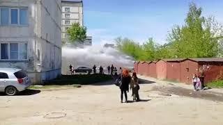 В Бийске забил коммунальный фонтан