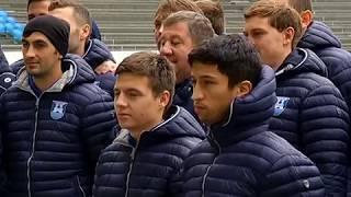 Футболисты «Балтики» на новом калининградском стадионе