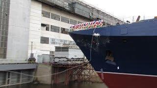 В Зеленодольске спустили на воду первый серийный сторожевой корабль проекта «Океан»